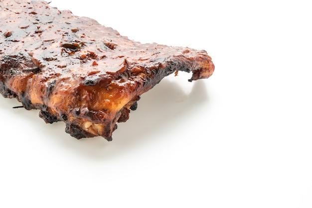 구이와 바베큐 갈비 돼지 고기 절연