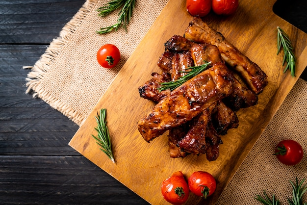 Grilled barbecue pork ribs
