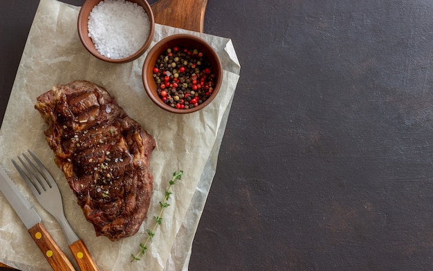 Grilled beef steak. american cuisine. recipe. meat.