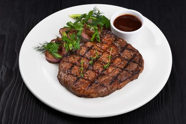 黒アンガスステーキのグリル