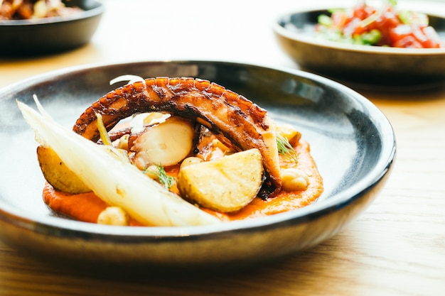 Grilled charred octopus