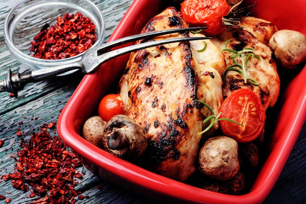 グリルした鶏の胸肉