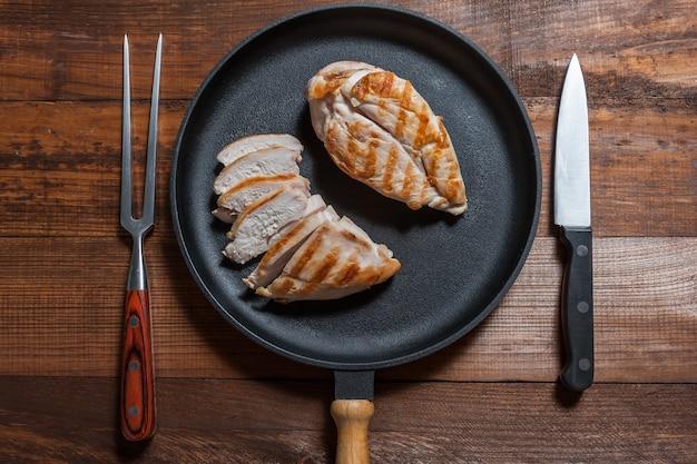 Куриное филе гриль на сковороде