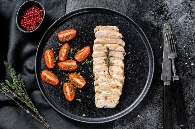 鶏ササミのグリルとフレッシュサラダ。健康ダイエット食品