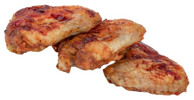 Куриные крылышки на гриле изолированные Premium Фотографии