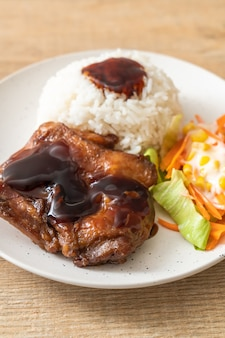 Grilled chicken with teriyaki sauce and rice