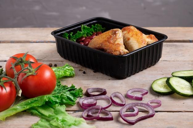 Курица-гриль с овощами