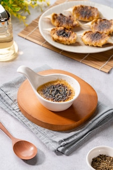 Краб на гриле с соусом ментайяки ментаияки - типичный японский соус.