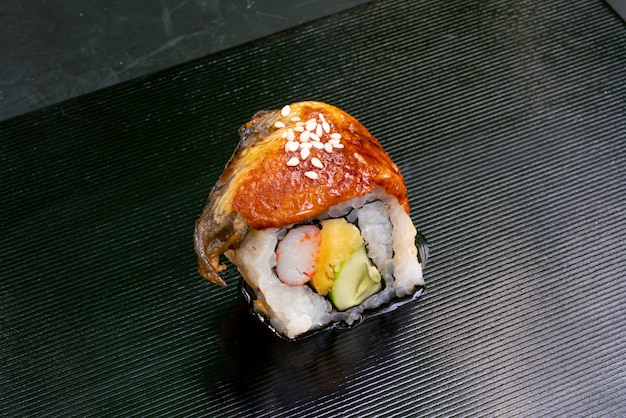 Grilled eel sushi roll