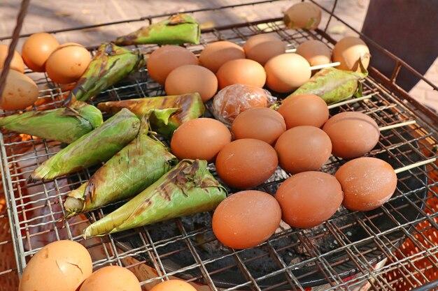 Grilled egg at street food