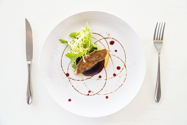 Grilled foie gras