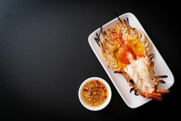 Grilled fresh giant river prawn