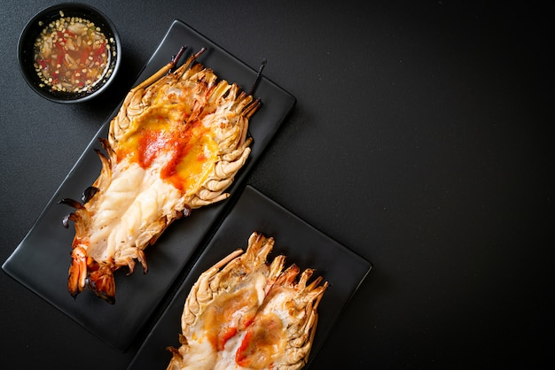 Grilled fresh giant river prawn