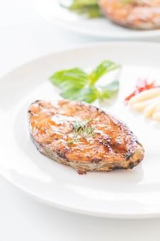 Grilled mackerel steak
