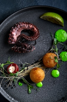 Grilled octopus beautiful serve