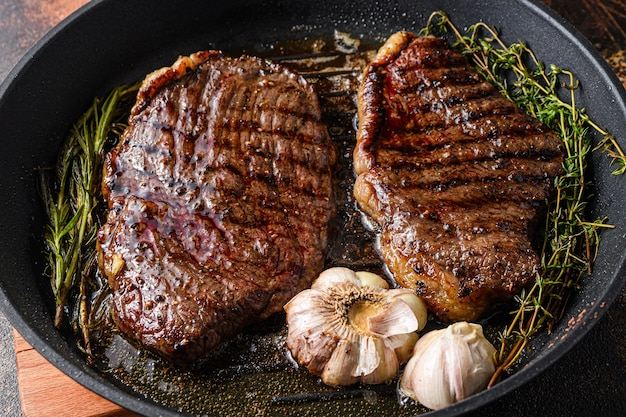 Grilled picanha beef steaks
