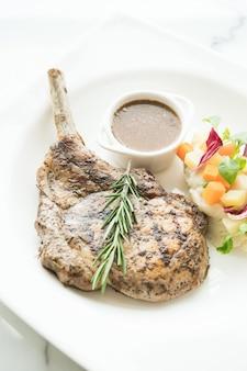 Grilled pork chop steak