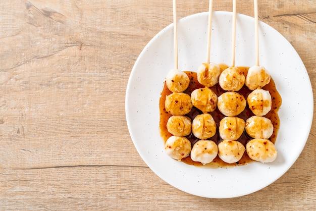 Жареные свиные котлеты со сладким соусом чили