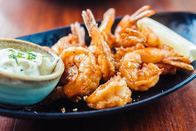 Grilled prawn and shrimp steak