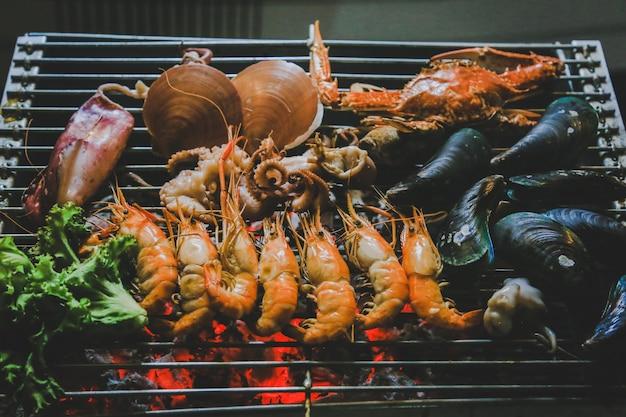 Grilled seafood, street food