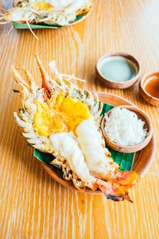 Grilled shrimp or prawn