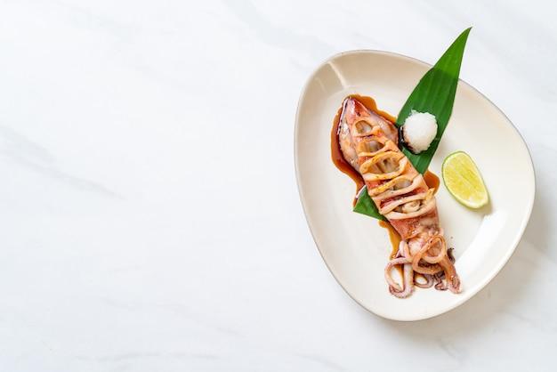 Жареный кальмар с соусом терияки