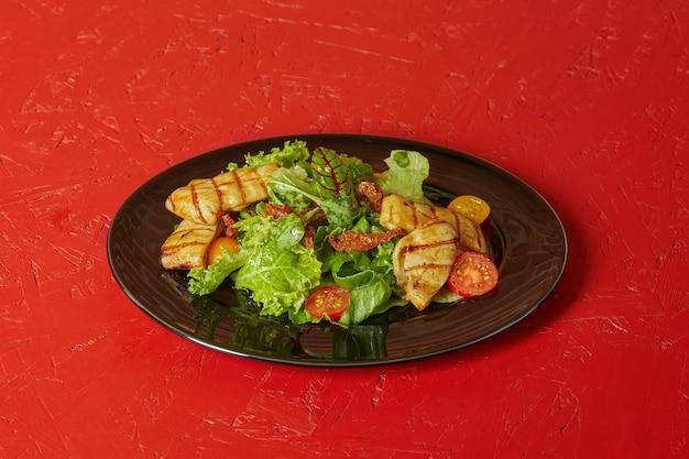 イカの野菜焼き