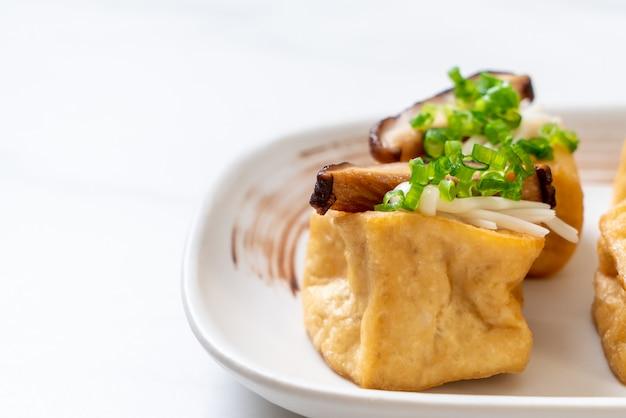 しいたけと金針茸の焼き豆腐