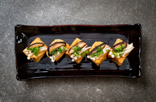 しいたけと金針茸のグリル豆腐