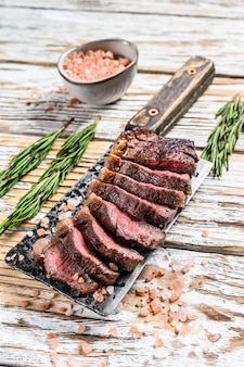 Grilled top sirloin cap or picanha steak