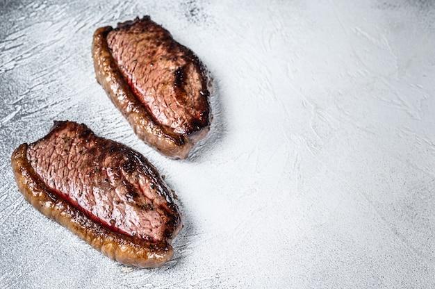 Grilled top sirloin cap or picanha steak.