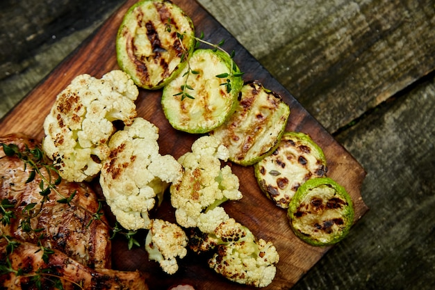 Grilled zucchini and vegetables