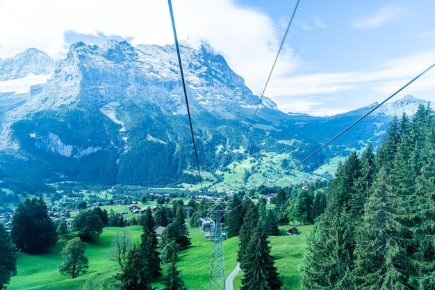 Grindelwald village view from cable car