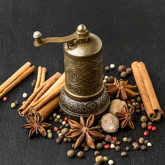 Grinder for cooking spices