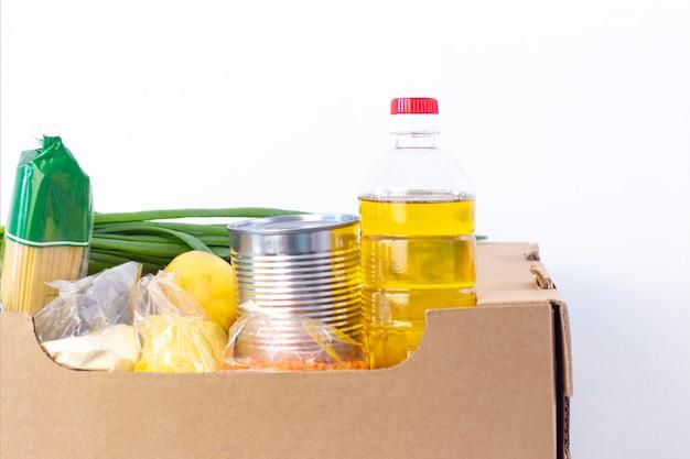 食料品箱、困っている人に製品を助けます