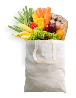 슈퍼마켓에서 식료품 건강 식품 야채 쇼핑