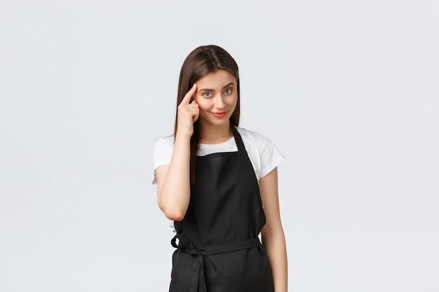 Работники продуктового магазина, малый бизнес и концепция кафе.