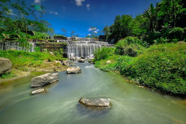 Grojogan watu purbo is a multi-storey river dam and is one of the tourist destinations located in sleman, yogyakarta