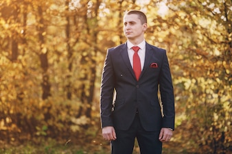Groom in the forest