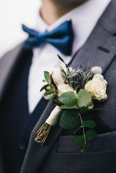 Groom's wedding boutonniere