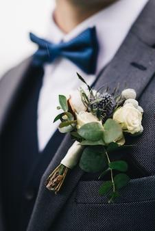 신랑의 결혼식 boutonniere