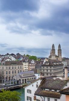 Grossmunster, romanesque cathedral in zurich