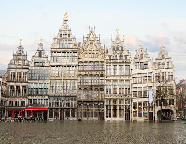 Grote markt square in old town, antwerpen, belgium