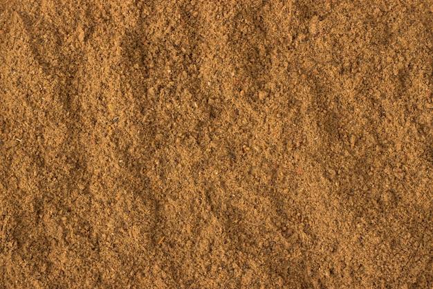 Ground nutmeg powder spice