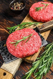 Ground raw meat patties