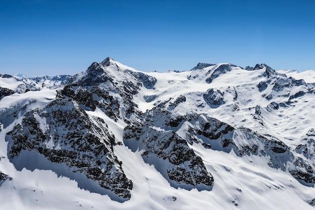Group of alpine mountains around mt.titlis