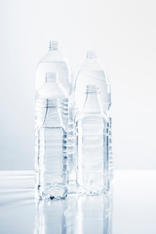 Group of bottles of water
