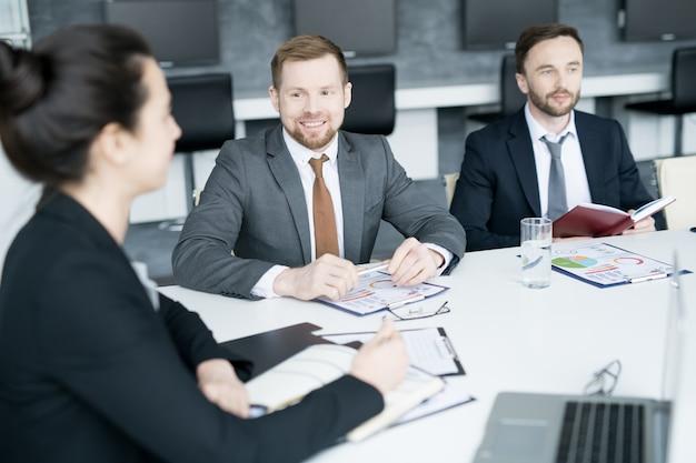 Group of business people meeting in board room