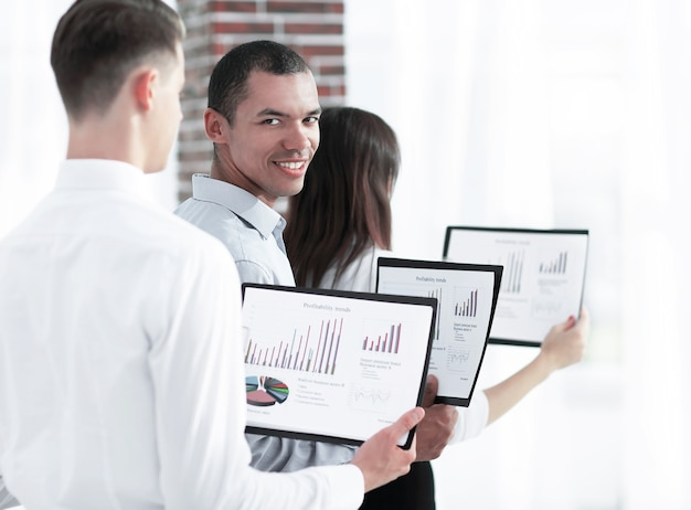 Group of business people with financial documents.the concept of teamwork