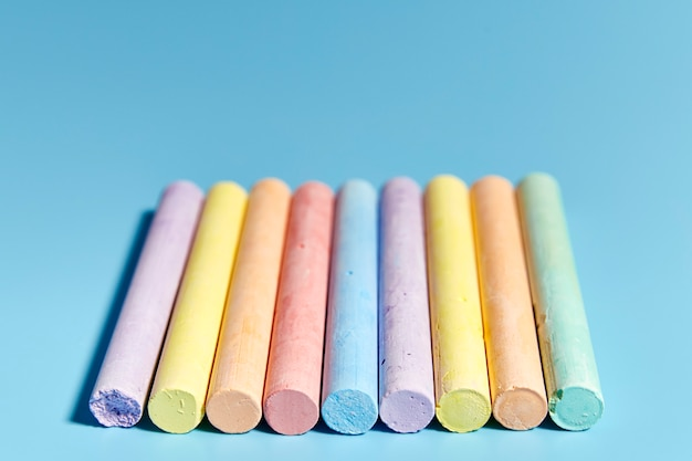 Group of chalk of various colors